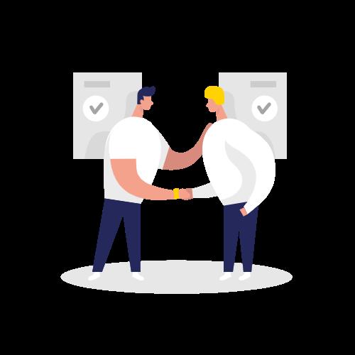 Handshake Two Color